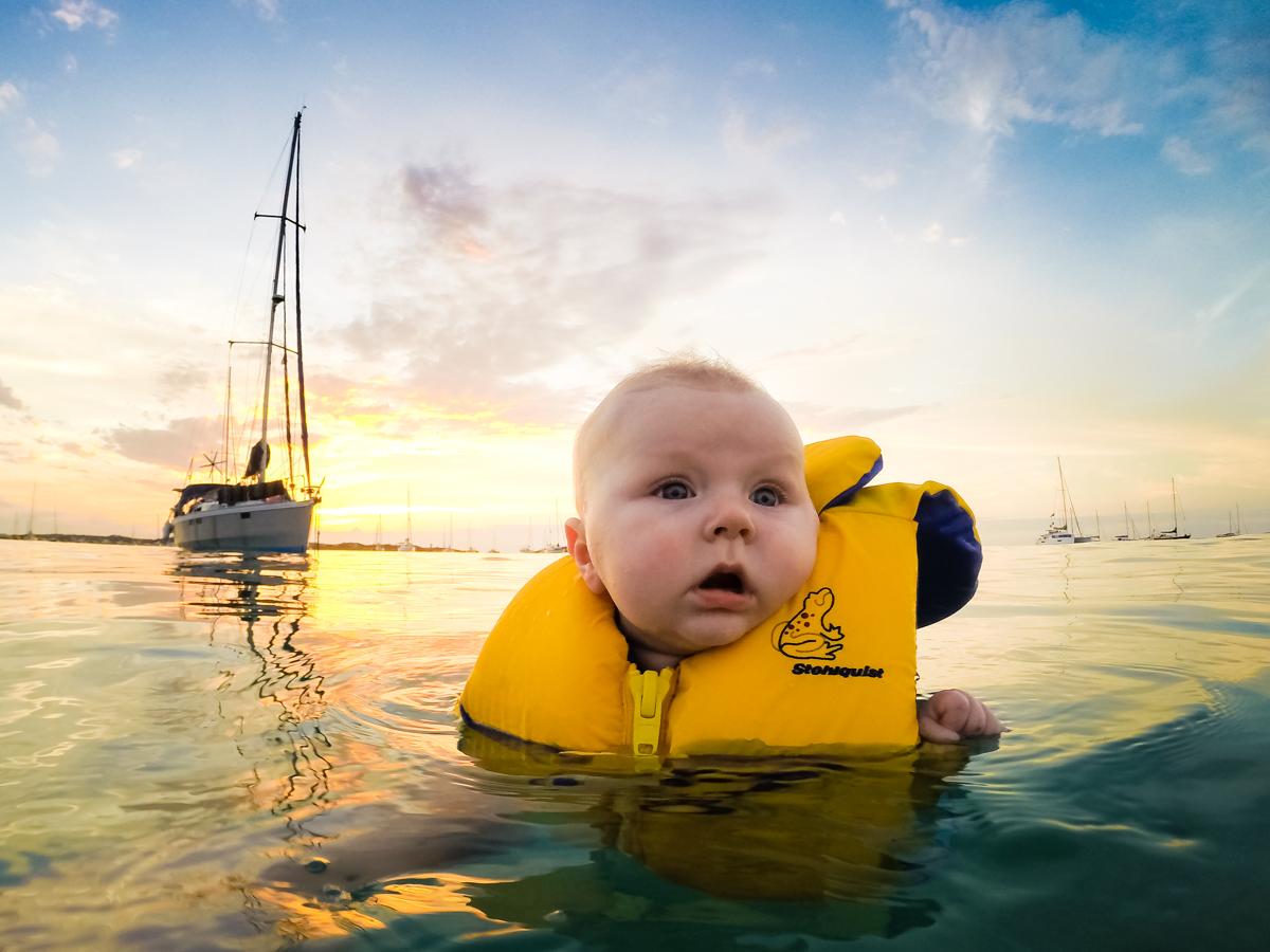 Käpt'n Kyell checking his new boat
