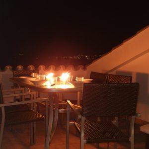 Roof tarrace dinner