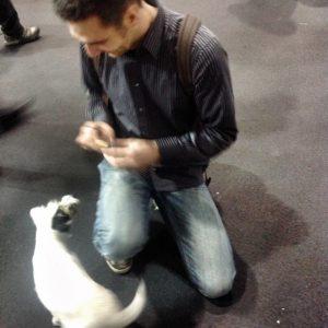 Me feeding Germanys famous dog Polly - Step 0