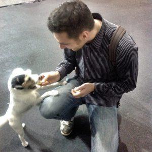 Me feeding Germanys famous dog Polly - Step 3