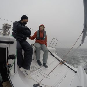 Ole, sailing teacher from team Biehlmarin showing us how to sail with a SSC27