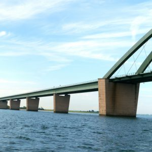 Passing Fehmarnsund Bridge