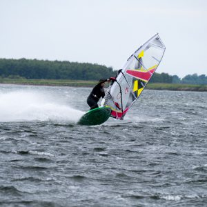 Windsurfer in 7-8 Bft