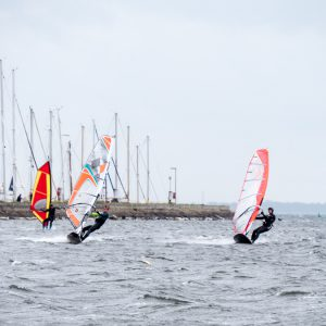 Windsurfing in 7-8 Bft
