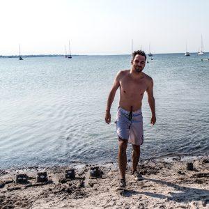 Hello Mr. Swimming Man