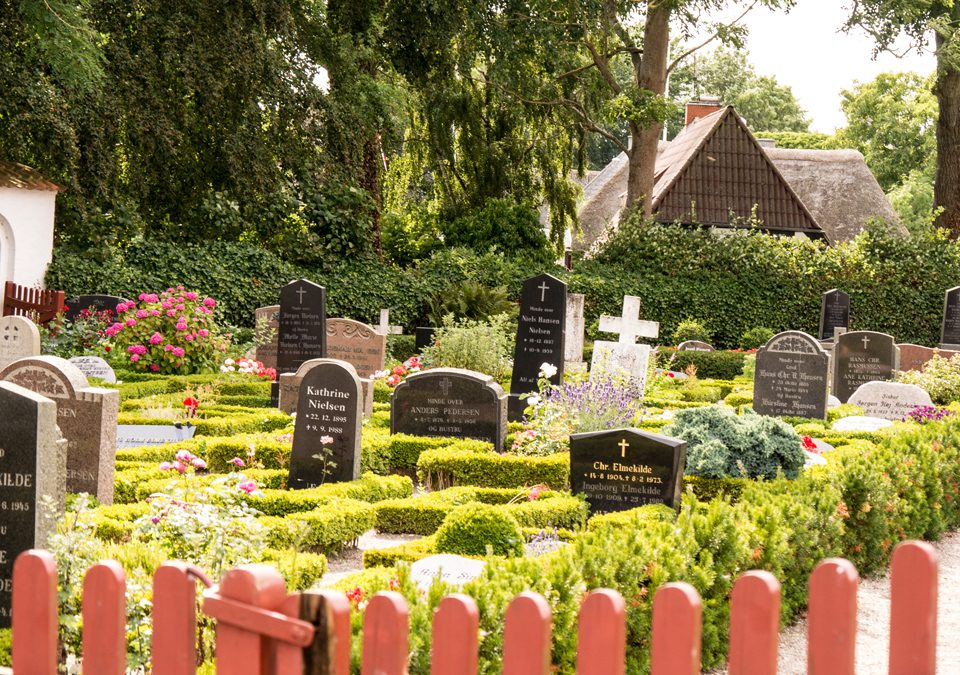 Only conserved round cemetery of Denmark
