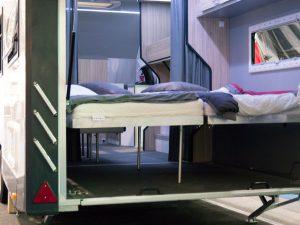 Campervan with dinghy garage