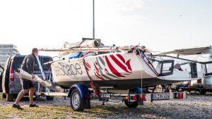Seascape 18 on trailer