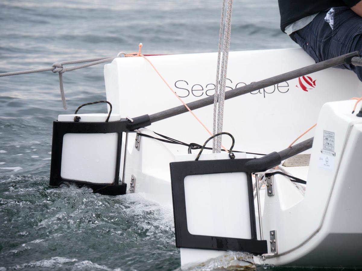 Seascape 18 twin rudders