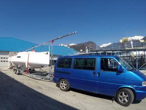 Pick up with VW van and LOC trailer from Slovenia