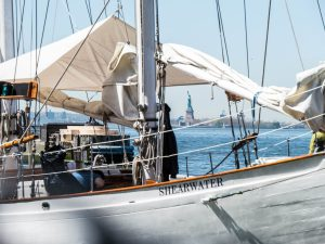 Shearwater getting ready to sail