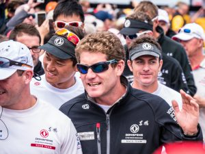 Team Dongfeng with Skipper Charles Chaudrelier