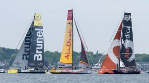 Pre-start phase, the code-zero will be the only foresail used in the race