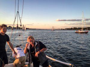 Welf, Paul and co-skipper Vicky